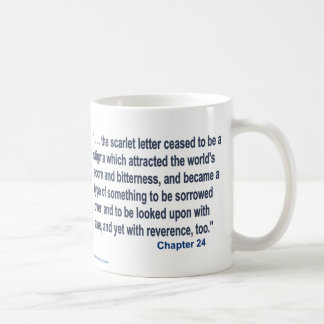 The Scarlet  Letter Text Coffee Mug