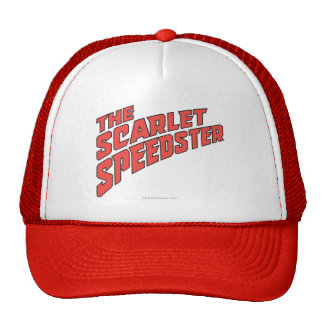 The Scarlet Speedster Logo Trucker Hats