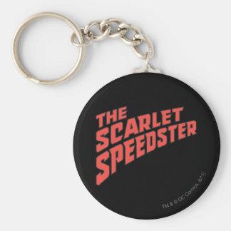 The Scarlet Speedster Logo Keychain