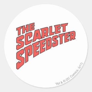 The Scarlet Speedster Logo Round Sticker