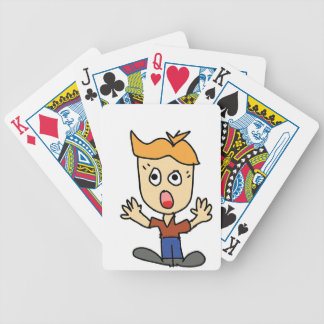 the scary boy cartoon bicycle playing cards