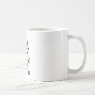 the scary boy cartoon coffee mug