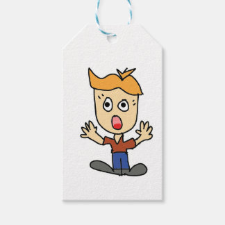 the scary boy cartoon gift tags