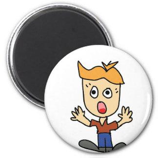 the scary boy cartoon magnet