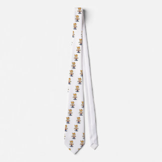 the scary boy cartoon tie