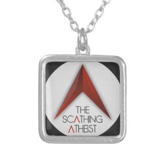 The Scathing Atheist Silver Plated Necklace