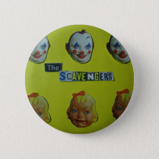 The scavengers  happy face 2 inch round button