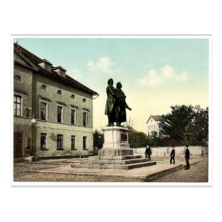 The Schiller and Goethe Monument, Weimar, Thuringi Postcard