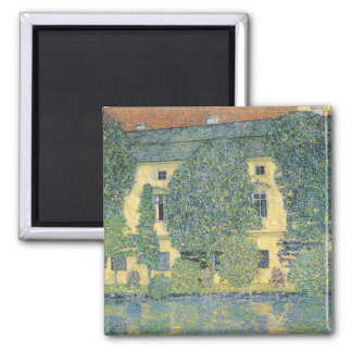 The Schloss Kammer on the Attersee III, 1910 Square Magnet