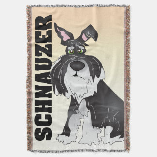 The Schnauzer Blanket Throw Blanket
