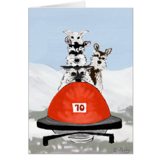 The Schnauzer Bobsleighing Team Card