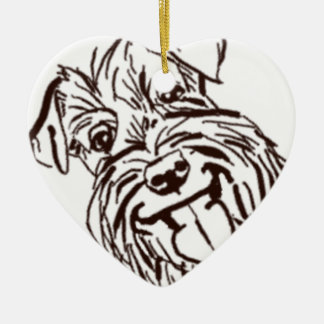 The Schnauzer Love of My Life Ceramic Ornament