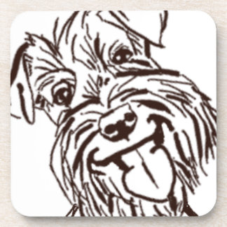 The Schnauzer Love of My Life Drink Coaster