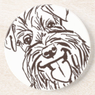 The Schnauzer Love of My Life Drink Coasters