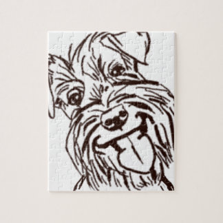 The Schnauzer Love of My Life Jigsaw Puzzle