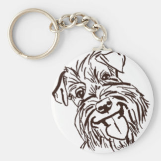 The Schnauzer Love of My Life Keychain