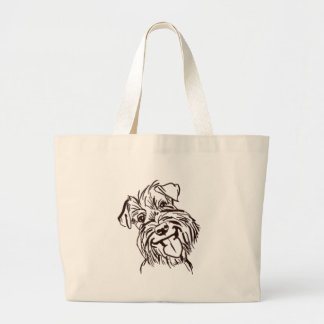 The Schnauzer Love of My Life Large Tote Bag