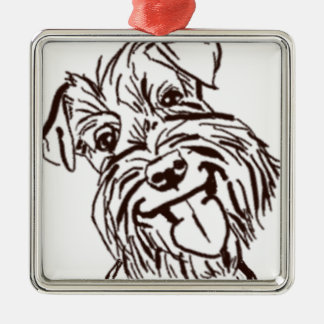 The Schnauzer Love of My Life Metal Ornament
