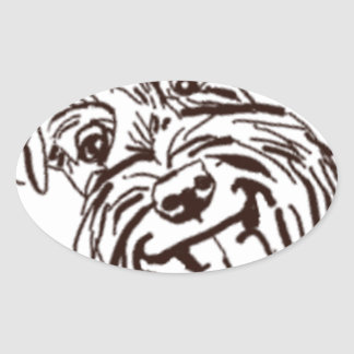 The Schnauzer Love of My Life Oval Sticker