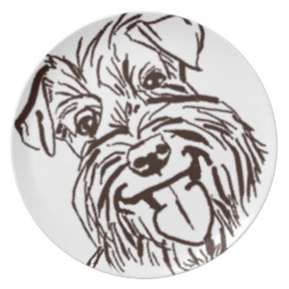 The Schnauzer Love of My Life Plate