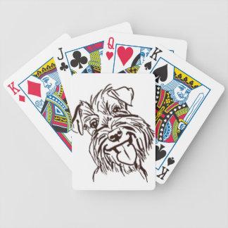 The Schnauzer Love of My Life Poker Deck