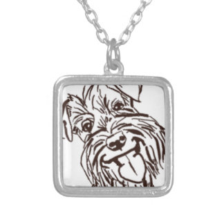 The Schnauzer Love of My Life Silver Plated Necklace