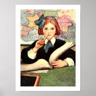 """""""The Scholar"""" by Jessie Willcox Smith Posters"""