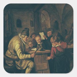 The School Master, 1626-79 Sticker