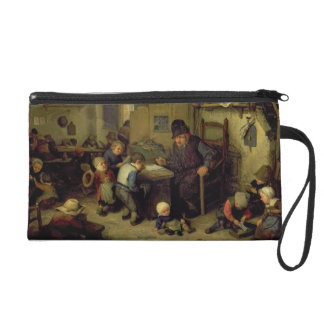 The School Master, c.1662 (oil on panel) Wristlet Clutches