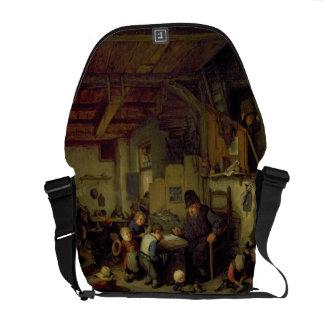 The School Master, c.1662 (oil on panel) Messenger Bag