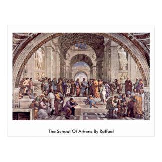 The School Of Athens By Raffael Postcard