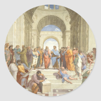 The School of Athens Classic Round Sticker