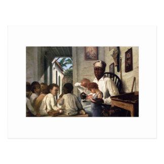 The School of Master Rafael Cordero Postcard