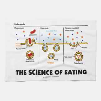 The Science Of Eating (Endocytosis Biology Humor) Kitchen Towel