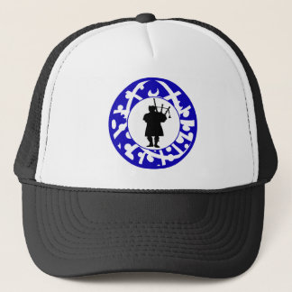 THE SCOTLAND BAGPIPES TRUCKER HAT