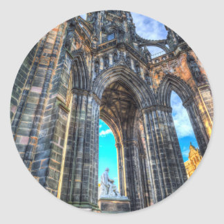 The Scott Memorial Edinburgh Classic Round Sticker