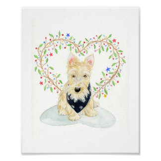 The Scottie With Heart Poster