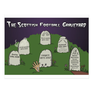 The Scottish Football Graveyard Postcard
