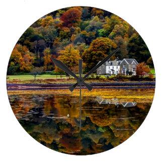 The Scottish Highlands in Argyl Large Clock