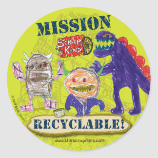 "The Scrap Kins ""Mission Recyclable"" Sticker Sheet"