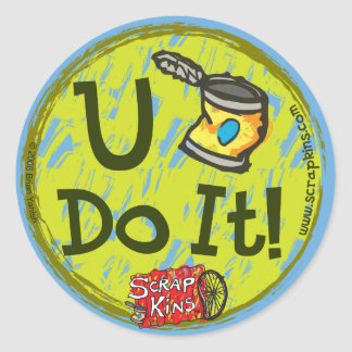 "The Scrap Kins ""U Can Do It!"" Sticker Sheet"