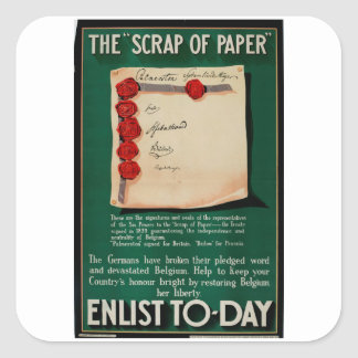 The 'Scrap of Paper'_Propaganda Poster Square Sticker