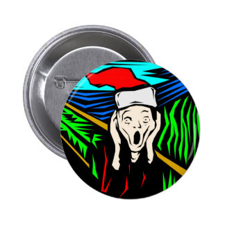 THE SCREAM AT CHRISTMAS 2 INCH ROUND BUTTON