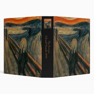 The Scream by Edvard Munch 3 Ring Binder