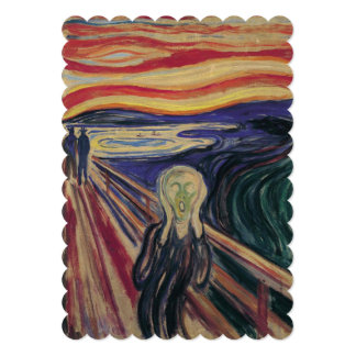 The Scream by Edvard Munch, 50th Anniversary Party Card