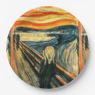 The Scream by Edvard Munch 9 Inch Paper Plate