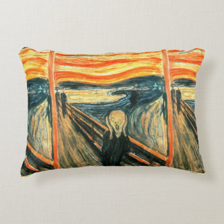 The Scream by Edvard Munch Accent Pillow