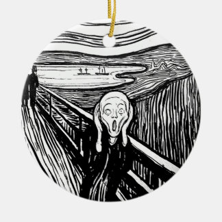 The Scream by Edvard Munch Ceramic Ornament