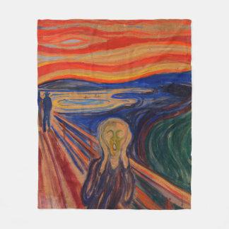 The Scream by Edvard Munch Fleece Blanket