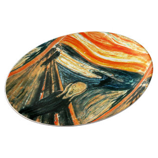 The Scream by Edvard Munch Porcelain Plates